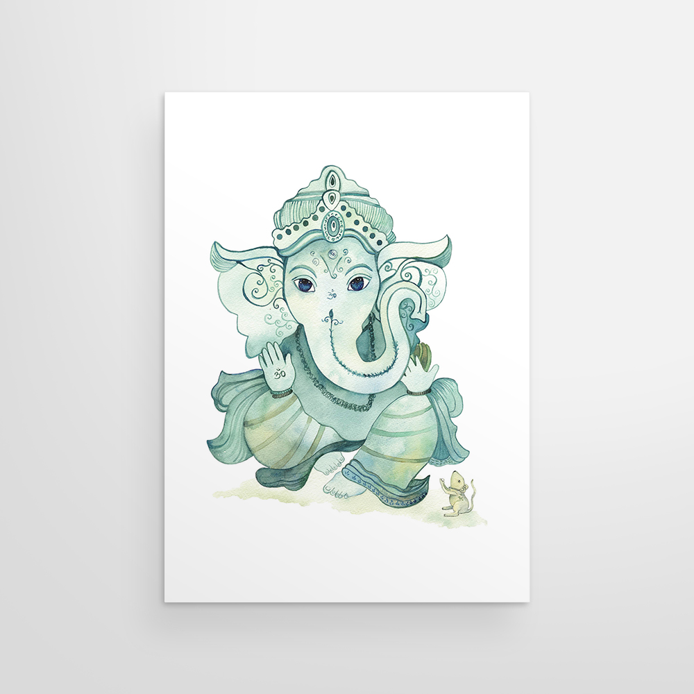 Ganesha in Blues